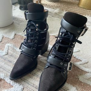 Chloe Rylee Boots - leather and suede